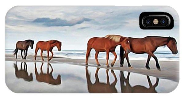 iPhone Case - Beach Horses by Harry Warrick