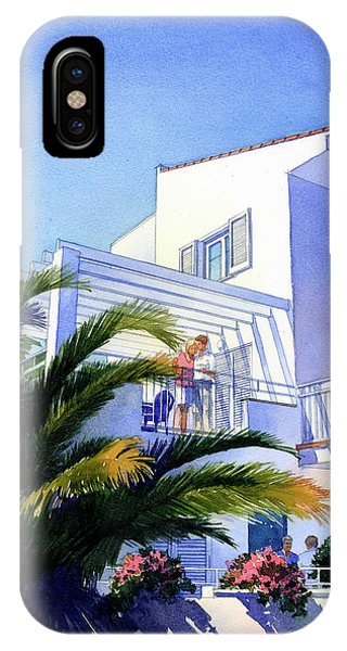 Beach House At Figueres IPhone Case