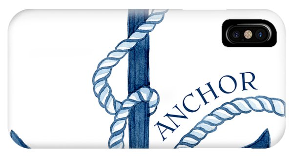 Nautical iPhone Case - Beach House Nautical Ship Christ Is My Anchor by Audrey Jeanne Roberts
