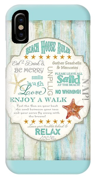 Beach House Rules - Refreshing Shore Typography IPhone Case