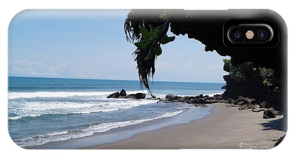 Tropes iPhone Case - Beach In Bali Near The Tanah Lot by Timea Mazug