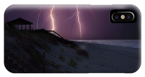 Beach Lighting Storm IPhone Case