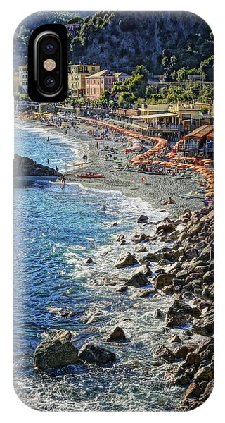 Beach Monterosso Italy Dsc02467 IPhone Case