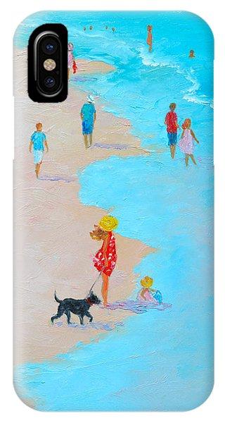 Beach Painting - Beach Day - By Jan Matson IPhone Case