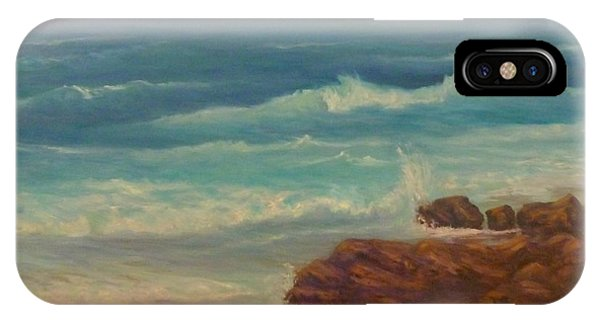 Beach Painting Beach Rocks  IPhone Case