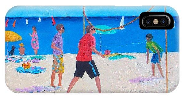 Beach Painting Beach Volleyball  By Jan Matson IPhone Case