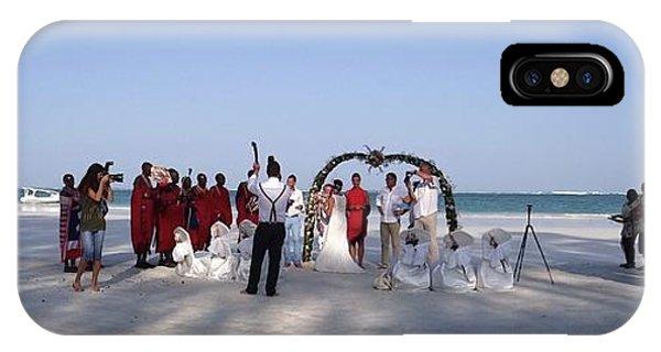 Exploramum iPhone Case - Beach Panoramic Wedding  by Exploramum Exploramum