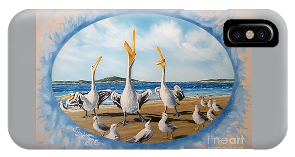 Flying Lamb Productions            Pelicans   Beach Platoon IPhone Case
