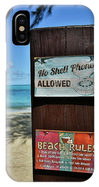Beach Rules IPhone Case