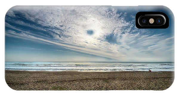 IPhone Case featuring the photograph Beach Sand With Clouds - Spiagggia Di Sabbia Con Nuvole by Enrico Pelos