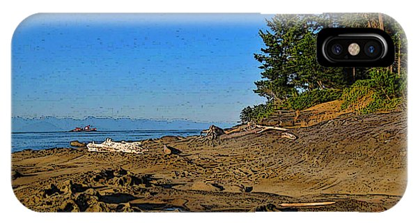 Beach Scene, Berry Point, Gabriola, Bc IPhone Case