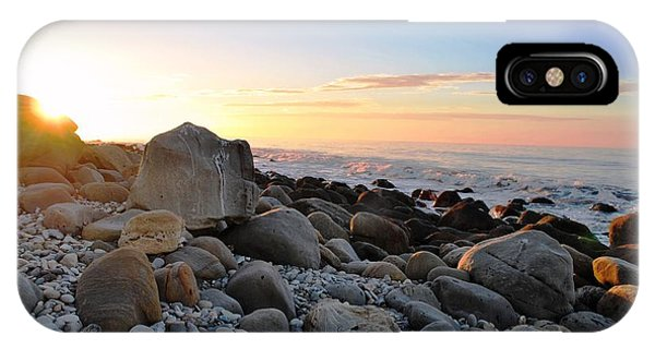 Beach Sunrise Over Rocks IPhone Case