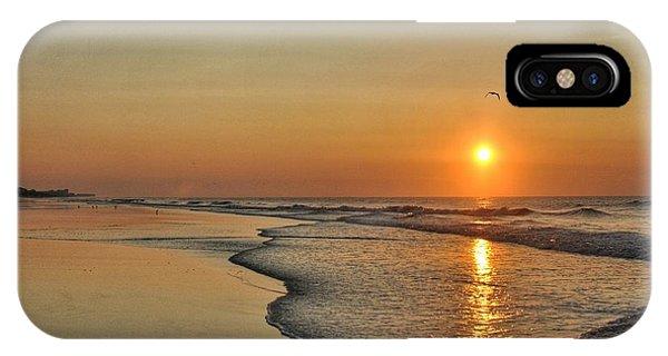 Topsail Nc Beach Sunrise IPhone Case