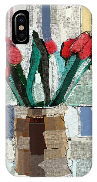 Beach Tulips IPhone Case