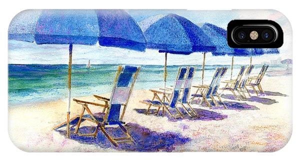 Umbrella iPhone Case - Beach Umbrellas by Andrew King