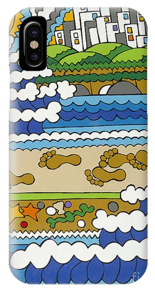 Beach Walk Foot Prints IPhone Case