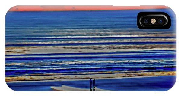 Beach Walking At Sunrise IPhone Case