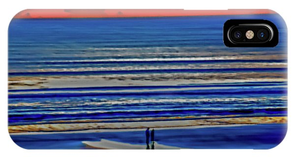 Beach Walking At Sunrise IPhone Case