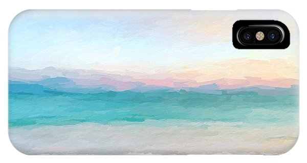 Beach Watercolor Sunrise IPhone Case