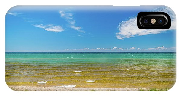 Beach With Blue Skies And Cloud IPhone Case