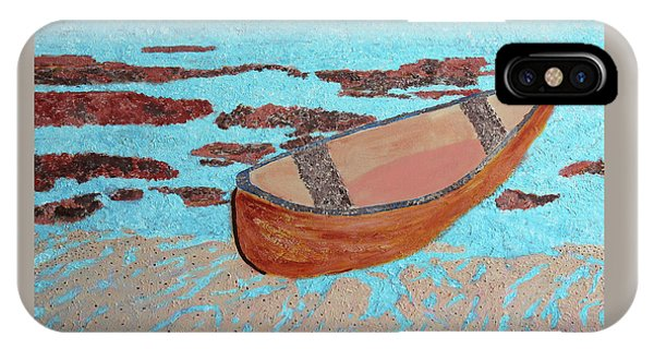 IPhone Case featuring the painting Beached At Washington Oaks Park by Deborah Boyd