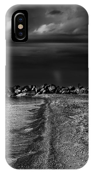 IPhone Case featuring the photograph Beaches Park Toronto Canada Breakwall No 1 by Brian Carson