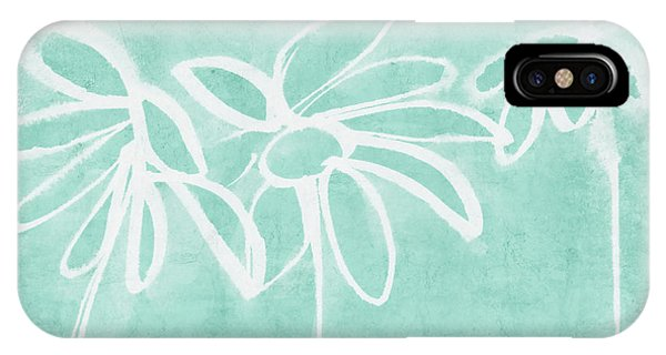 Floral iPhone Case - Beachglass And White Flowers 3- Art By Linda Woods by Linda Woods