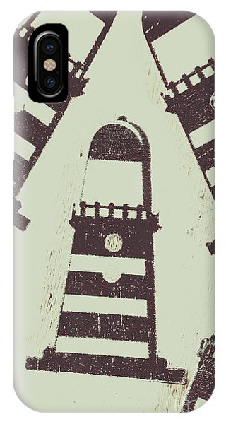 Navigation iPhone Case - Beacon Buttons by Jorgo Photography - Wall Art Gallery