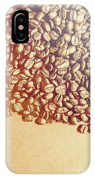 Scent iPhone Case - Bean Background With Coffee Space by Jorgo Photography - Wall Art Gallery