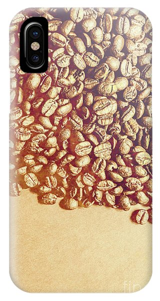 Vintage iPhone Case - Bean Background With Coffee Space by Jorgo Photography - Wall Art Gallery