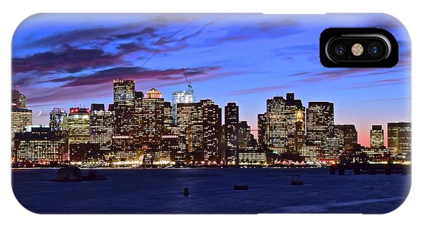 Bean Town iPhone Case - Bean Town At Dusk by Frozen in Time Fine Art Photography