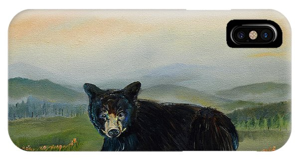Bear Alone On Blue Ridge Mountain IPhone Case