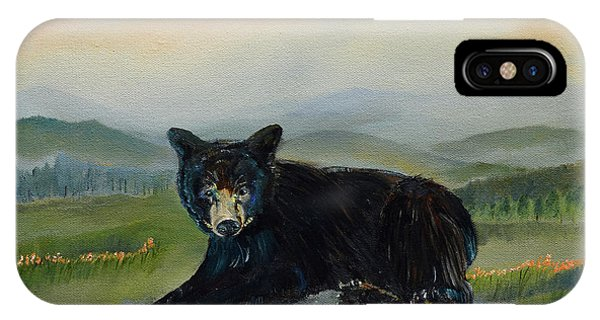 Bear Alone On Blue Ridge Mountain IPhone Case