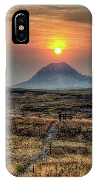 Bear Butte Smoke IPhone Case