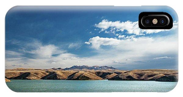Bear Creek iPhone Case - Bear Paw Blue by Todd Klassy