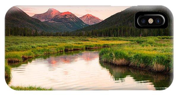 Bear River Sunset IPhone Case