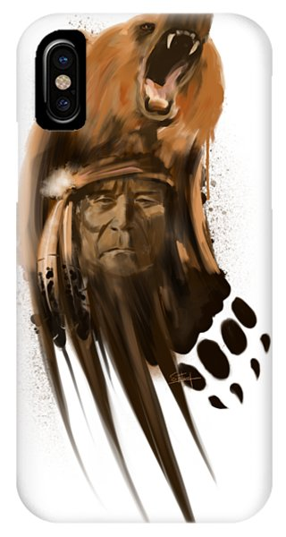Native iPhone Case - Bear Spirit  by Sassan Filsoof