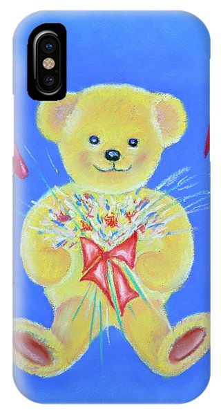 Bear With Flowers IPhone Case
