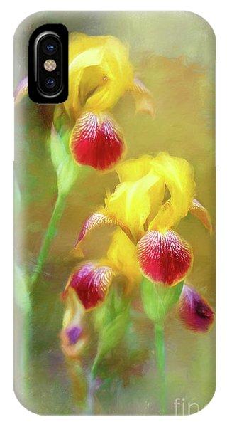 Bearded Iris Pair IPhone Case