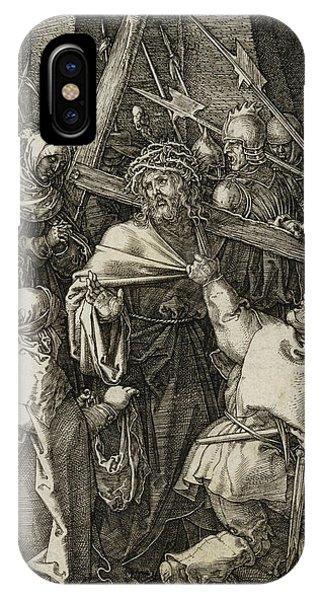 Albrecht Durer iPhone Case - Bearing Of The Cross by Albrecht Durer