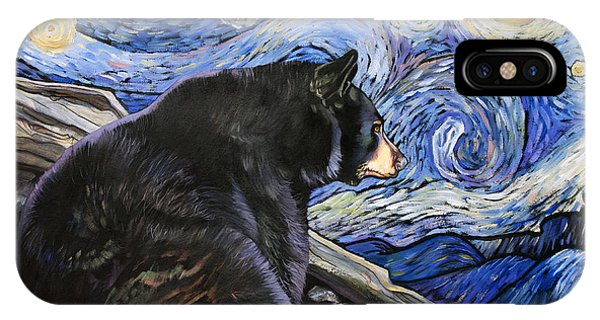Beary Starry Nights IPhone Case