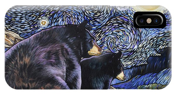 Beary Starry Nights Too IPhone Case