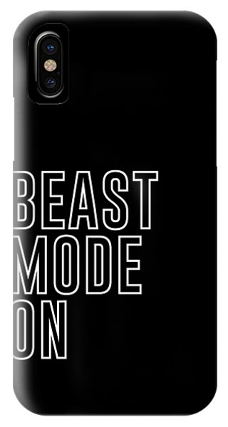 Workout iPhone Case - Beast Mode On - Gym Quotes - Minimalist Print - Typography - Quote Poster by Studio Grafiikka