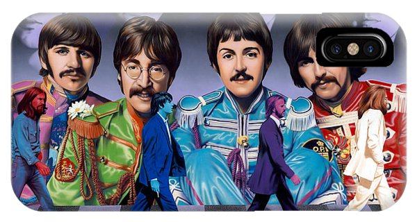 Harrison iPhone Case - Beatles - Walk Away by Ross Edwards