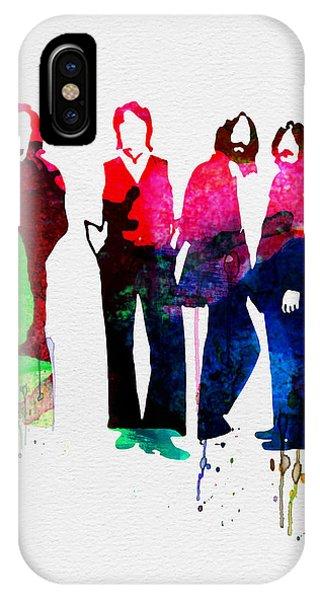 Concert iPhone Case - Beatles Watercolor by Naxart Studio