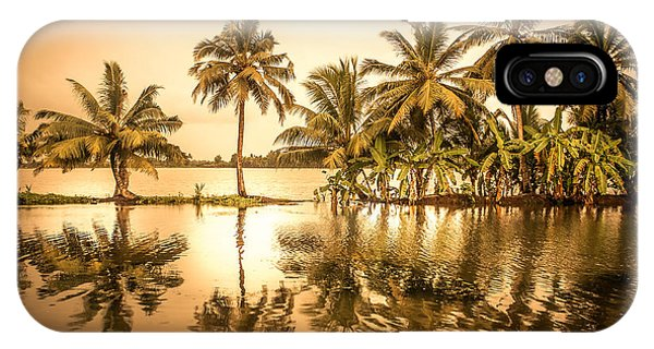 Kerala iPhone Case - Beautiful Backwater View Of Kerala, India. by Art Spectrum