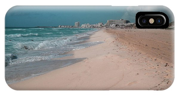 Water iPhone Case - Beautiful Beach In Cancun, Mexico by Nicolas Gabriel Gonzalez