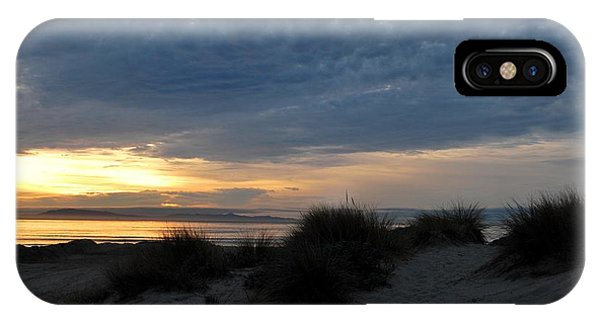 Beautiful Beach San Dunes Sunset And Clouds IPhone Case