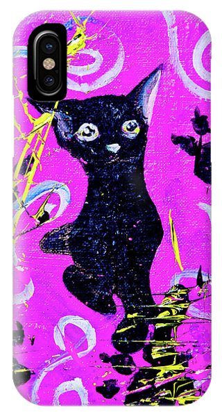 IPhone Case featuring the mixed media Beautiful Black Pussy by eVol i