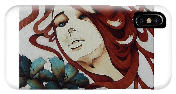 She iPhone Case - Beautiful Blue Eyes Woman by Andulino